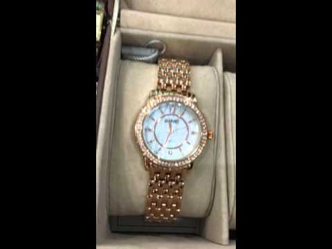 , title : 'August Steiner Women's AS8063RG Dazzling Diamond Swiss Quartz 3 Watch Set'