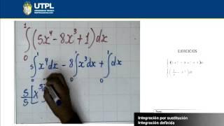 UTPL INTEGRACIÓN POR SUSTITUCIÓN - INTEGRACIÓN DEFINIDA [(ECONOMÍA)(CÁLCULO II)]