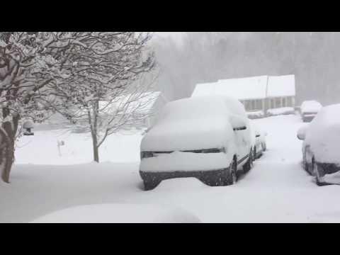 Deep snow in North Carolina
