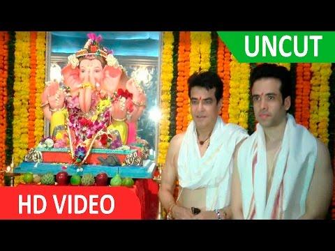 UNCUT Jeetendra Tusshar Kapoor Ghar Ganpati Sthapna