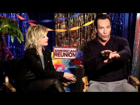 mena subari - American Reunion Interview with Mena Suvari and Chris Klein.