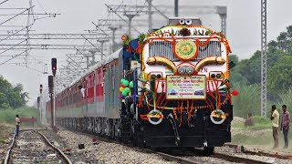 Download Lagu Beautifully DECORATED TRAIN | 02433 GHAZIPUR - ANAND VIHAR INAUGURAL SPECIAL !! Mp3