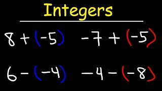 This Pre-Algebra video tutorial explains the process of adding and subtracting integers on a number line.  it includes plenty of examples with adding negative numbers and subtracting negative numbers.  The use of a number line simplifies the process of adding integers and subtracting integers.  This video contains practice problems of adding and subtracting integers with different signs as well.Pre-Algebra Video Playlist:https://www.youtube.com/watch?v=WJqw-cxvKgo&list=PL0o_zxa4K1BVoTlaXWFcFZ7fU3RvmFMMGAlgebra Online Course:https://www.udemy.com/algebracourse7245/learn/v4/overviewAccess to Premium Videos:https://www.patreon.com/MathScienceTutor