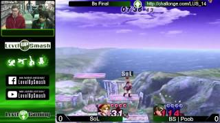 Level Up Smash 1.4 Grand Finals BS | Poob vs BS | Sol!!!