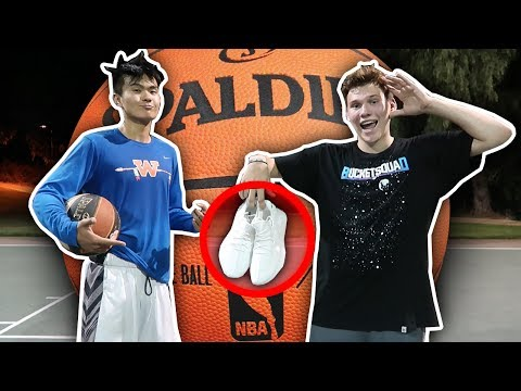 1 V 1 VS COLLEGE BASKETBALL PLAYER FOR YEEZYS!!
