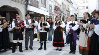 Noya Spain  city images : Gaita Gallega...Bagpipes Fiestas de Noia Spain 2015 OS SALGUEIRIÑOS