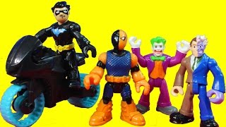 Imaginext Nightwing Rescues Police and Firefighter From Gotham City Center Slade Joker Bane Batman