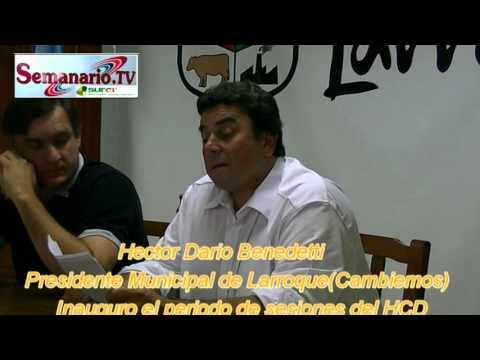 Surer. Hector Dario Benedetti Inauguro el Periodo de Sesiones Ordinarias del H.C.D.