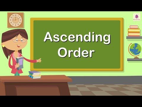 Ascending Order   Mathematics Grade 1   Periwinkle
