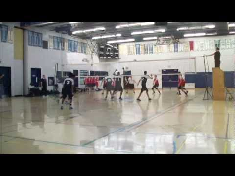 Francis Libermann  vs Bishop Allen TDCAA Sr Boys Volleyball Finals 2011 block