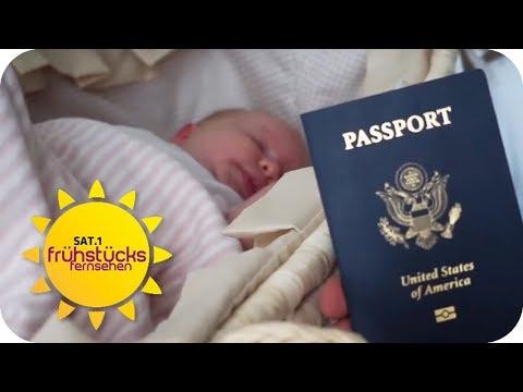 Baby Tourismus: Russen bringen Kinder in den USA zur Welt | SAT.1 Frühstücksfernsehen