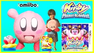 KIRBY PLANET ROBOBOT for Nintendo 3DS Giant Egg Surprise Opening