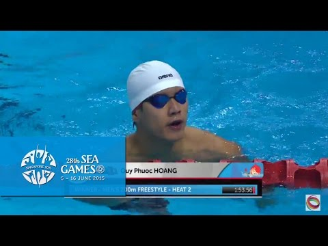Swimming Men's 100m Backstroke Heat 2 (Day 1) | 28th SEA Games Singapore 2015