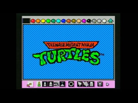 La intro de Teenage Mutant Ninja Turtles hecha con Mario Paint