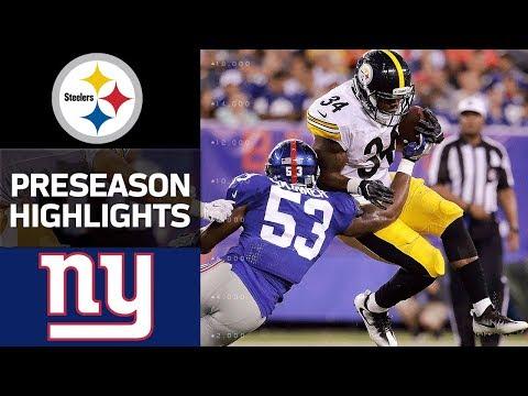 Steelers vs. Giants | NFL Preseason Week 1 Game Highlights - Thời lượng: 3:46.