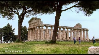More info about travel to Italy: https://www.ricksteves.com/europe/italy Paestum, just south of Italy's Amalfi Coast, was founded by Greeks in the sixth century B.C. Visitors to Paestum can see the remains of three impressive temples: the Temple of Ceres, the Temple of Hera, and the Temple of Neptune.At http://www.ricksteves.com, you'll find money-saving travel tips, small-group tours, guidebooks, TV shows, radio programs, podcasts, and more on this destination.