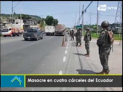 Masacre en cuatro cárceles del Ecuador