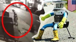 一人旅ロボット「ヒッチボット」破壊される 人との共生探る実験で米国横断中