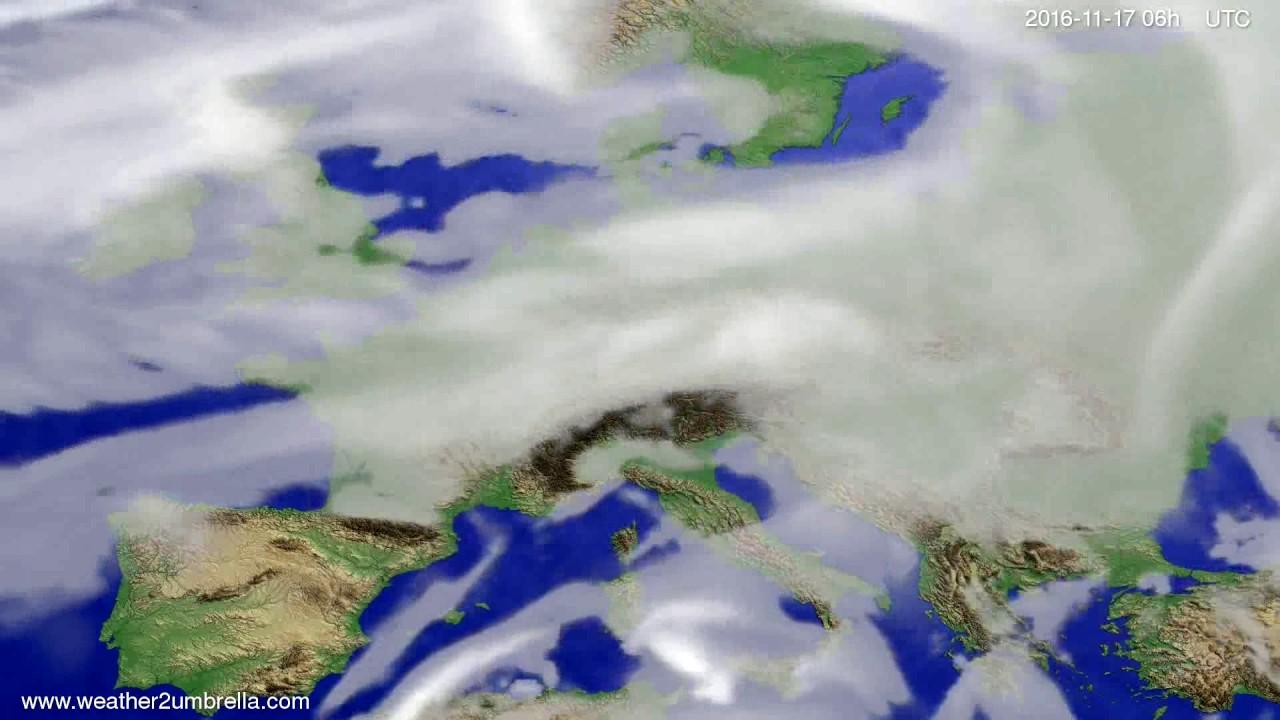 Cloud forecast Europe 2016-11-14