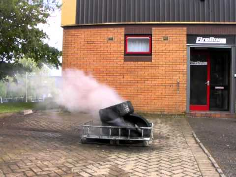 FireBug Company BacPac extinguishing tyre fire