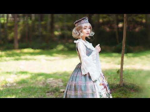 Vintage Dirndl Midi Dress Casual Lolita Women Dress Apron Spring Autumn Dress