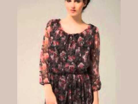 Renkli Çiçekli Tunik Elbise Modelleri İle Bayanlar Çok Farklı Bir Görünüm Kazanıyor