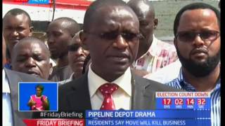Kenya Pipeline defend plan to relocate depot from NakuruSUBSCRIBE to our YouTube channel for more great videos: https://www.youtube.com/Follow us on Twitter: https://twitter.com/KTNNews  Like us on Facebook: https://www.facebook.com/KTNNewsKenya For more great content go to http://www.standardmedia.co.ke/ktnnews and download our apps:http://std.co.ke/apps/#android KTN News is a leading 24-hour TV channel in Eastern Africa with its headquarters located along Mombasa Road, at Standard Group Centre. This is the most authoritative news channel in Kenya and beyond.