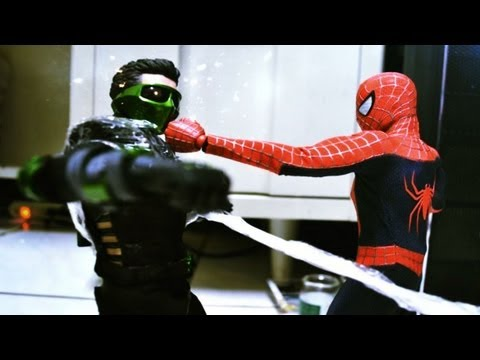 Stop Motion - Spiderman Vs Green Goblin