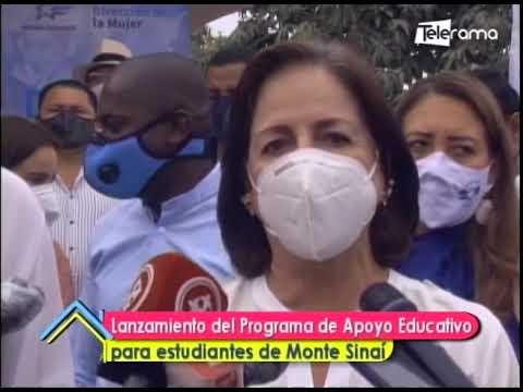 Lanzamiento del programa de apoyo educativo para estudiantes de Monte Sinaí