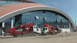 """17.07.2018 г. Видео со стройки стадиона """"Енисей"""""""