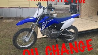 5. 2017 Yahmaha TTR 110E Oil Change