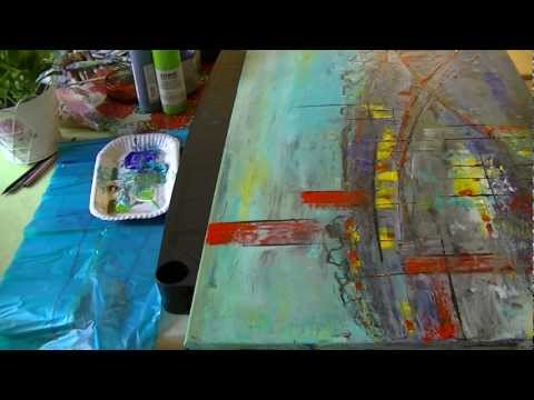 "Acrylmalerei abstract acrylic painting Demo Abstraktes Bild malen ""Noname"""