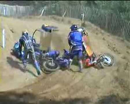 Motocross sidecar Crash