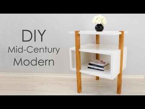 DIY Mid-Century Modern Side Table / End Table