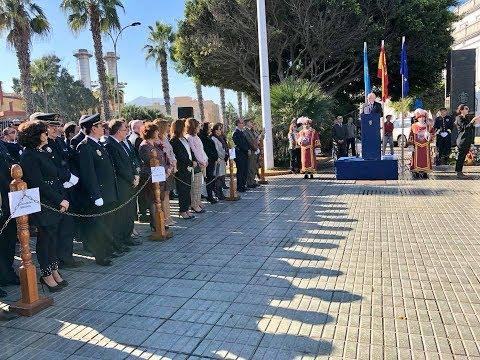 En Melilla aludimos hoy a la grandeza de España, a la unidad de todos los españoles, y a 39 años de labor fundamental de la Carta Magna en el asentamiento de las bases de un gran progreso económico y social.