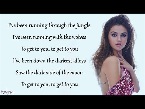 Wolves - Selena Gomez, Marshmello (Lyrics) (видео)