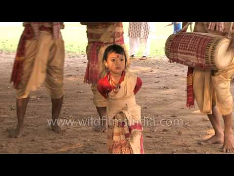 Video Cute little girl presents Bihu dance of Assam - Anushka Gogoi download in MP3, 3GP, MP4, WEBM, AVI, FLV January 2017