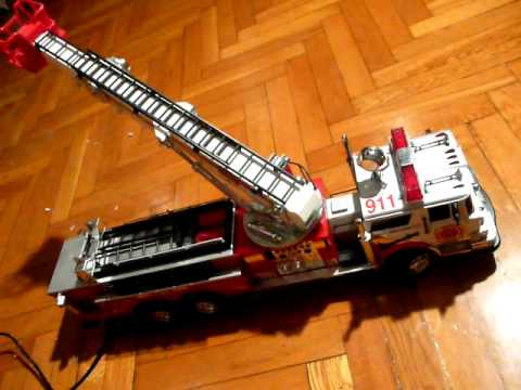 New Bright Fire Truck with a Wired Remote Control.