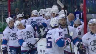 Zernov scores off rebound from referee