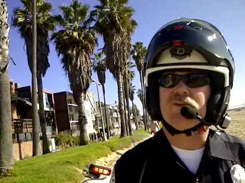 stupid - On a beautiful Thanksgiving weekend on the Venice bike path an LAPD officer was blocking the path on his motorcycle and another young girl was partially bloc...