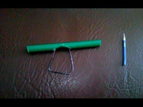 como fazer uma arminha de caneta e grampo de cabelo