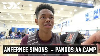 Anfernee Simons Interview - Pangos All - American Camp