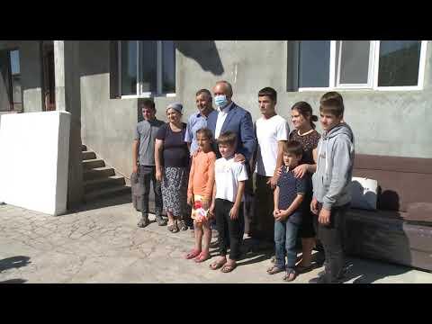 Președintele țării a vizitat familia Lomacenco din satul Mărinești, comuna Sângereii Noi