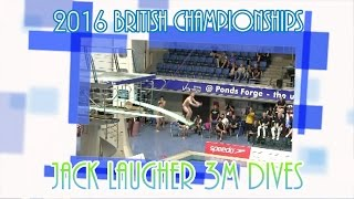 Jack prepares for Rio with another British title. See his 3M dives from Ponds Forge, Sheffield. (First prelim dive not recorded)