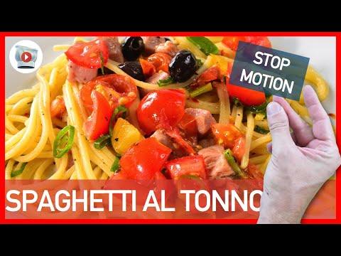 video ricetta - spaghetti al tonno e olive.