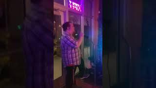 Eric @ Gypsy Moon Vapin Brews singing karaoke