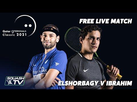 LIVE SQUASH: Mo.ElShorbagy v Ibrahim - Qatar Classic 2021 - Rd 2 - FREE MATCH