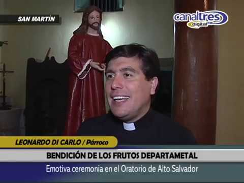 EMOTIVA CEREMONIA DE LA BENDICIÓN DE LOS FRUTOS DEPARTAMENTAL