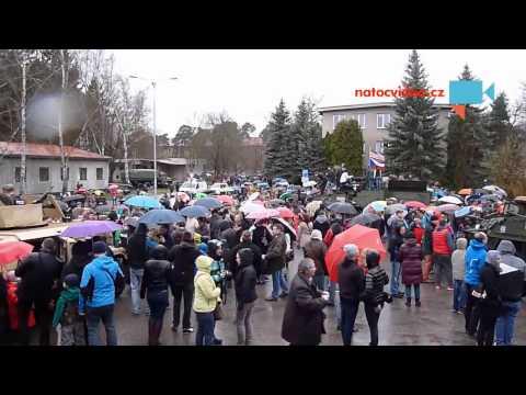 Jizda dragounů -Pardubice -setkání US vojáků a jejich příznivců