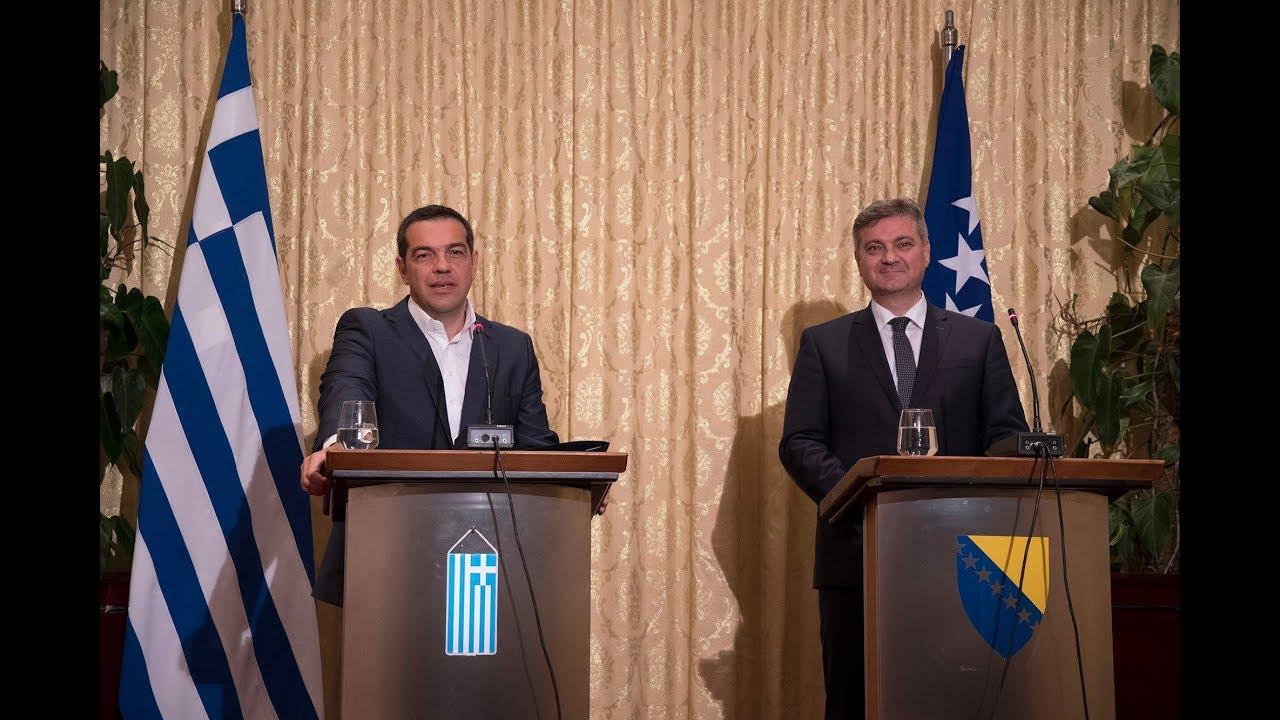 Κοινές δηλώσεις με τον κ. Ντένις Σβιντβιτς στο Μόσταρ